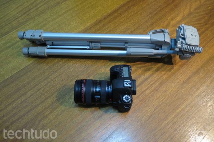 Uma boa câmera e um tripé são essenciais para registrar os momentos (Foto: Daniele Starck/TechTudo)