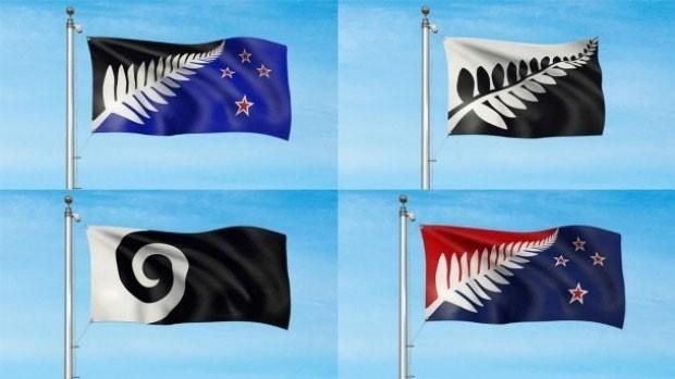 Quatro desenhos finalistas foram apresentados para a nova bandeira da Nova Zelândia (Foto: Divulgação/Govt.nz)
