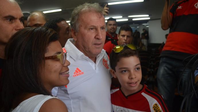 zico em joão pessoa (Foto: Cadu Vieira / GloboEsporte.com/pb)