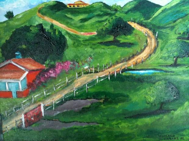 As telas têm como tema a natureza; esta é do artista Adriano Cabral (Foto: Divulgação)