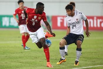 Jackson Martinez, reforço do Guangzhou Evergrande em jogo pela Liga dos Campeões da Ásia (Foto: REUTERS/Stringer )