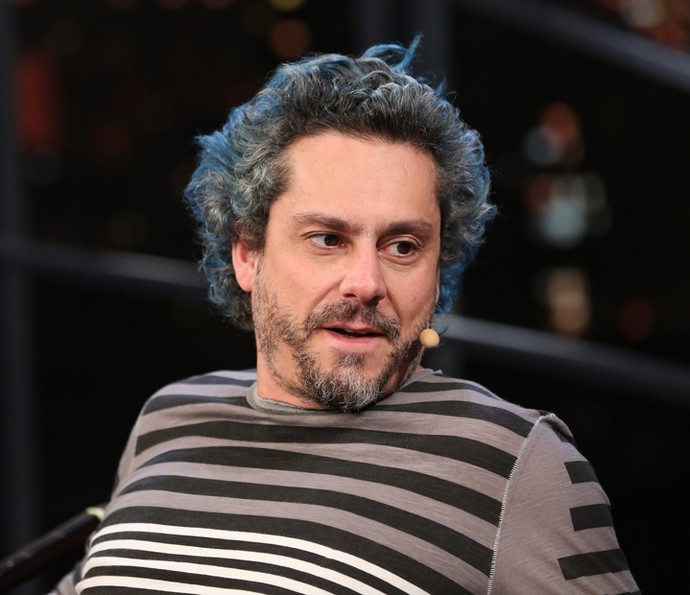 Alexandre Nero participa da gravação do 'Programa do Jô' (Foto: Carol Caminha/Gshow)