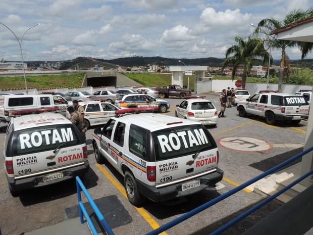 Operação da PM em Pará de Minas (Foto: PM/Divulgação)
