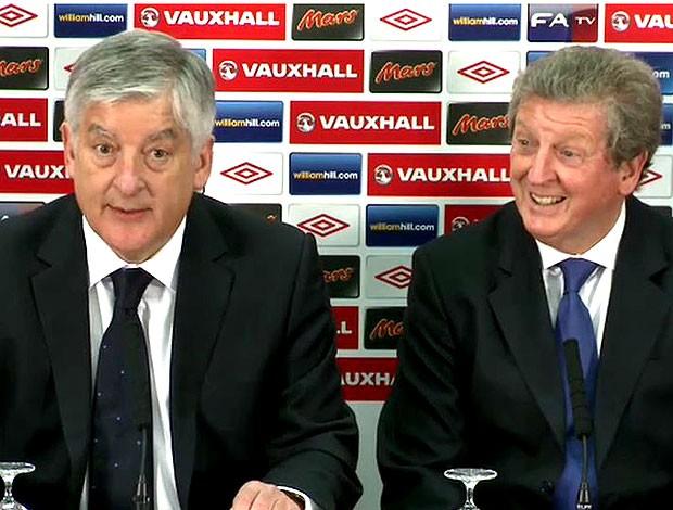 Roy Hodgson é apresentado como técnico da Inglaterra (Foto: Reprodução / TV Globo)