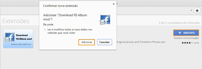 Baixe e instale a extensão no Google Chrome (Foto: Reprodução/Barbara Mannara)