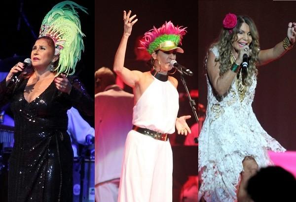 Fafá de Belém, Fernanda Abreu e Elba Ramalho foram algumas das convidadas do show da escola de samba (Foto: Ag News)