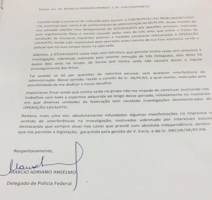 Delegado Márcio Anselmo deixa equipe da Lava Jato em Curitiba  (Foto: Reprodução)