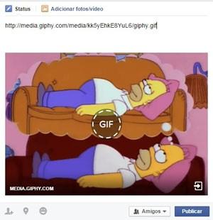 Facebook começa a permitir a exibição de GIFs dentro da rede social. (Foto: Reprodução/Facebook)