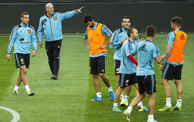 Vicente del Bosque treino Espanha (Foto: EFE)