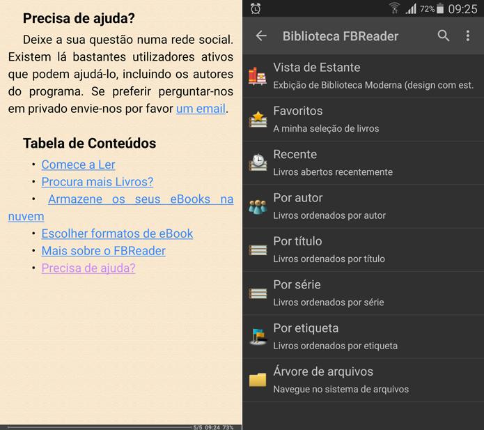 Melhores versões do FBReader são para dispositivos móveis (Foto: Reprodução/Filipe Garrett)