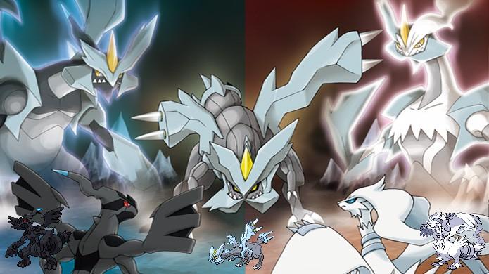Zekrom, Reshiram e Kyurem também lançaram moda em Pokémon Black & White com lendários que poderiam se fundir (Foto: Reprodução/Rafael Monteiro)