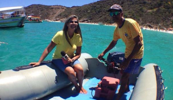 Thaise Cavalcante nas praias de Cabo Frio (Foto: Arquivo Pessoasl/Thaíse Cavalcante)