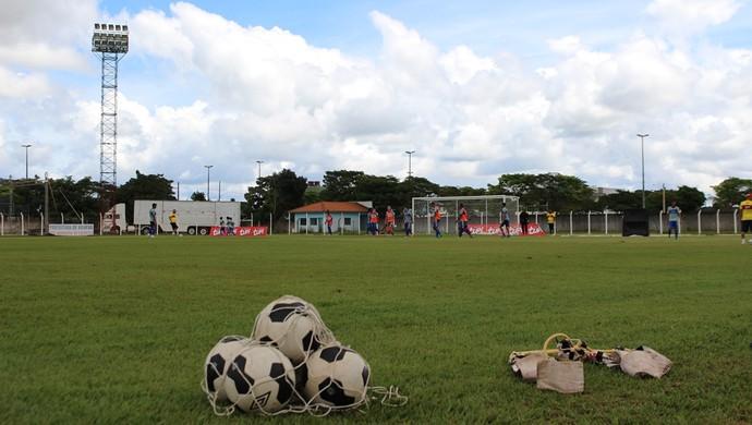 Vilhena fez seu último treino na manhã desta segunda, 2 (Foto: Larissa Vieira)