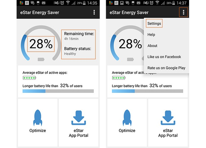 Acesse as configurações do aplicativo no Android (Foto: Reprodução/Barbara Mannara)