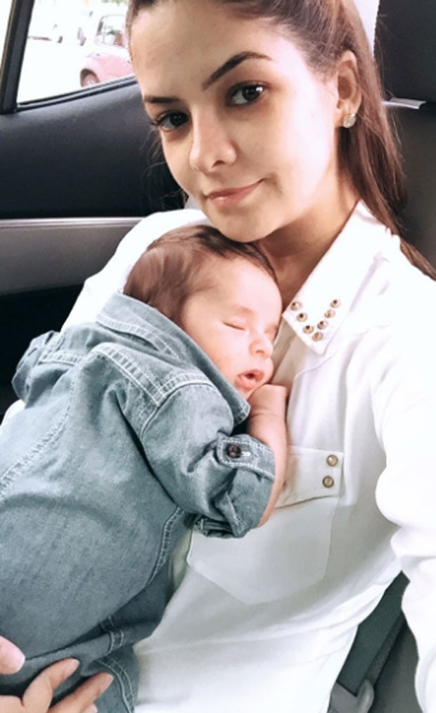 Maria Cecilia e filho (Foto: Reprodução)