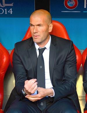 Zidane e Carlo Ancelotti Real Madrid e Atlético de Madrid (Foto: Getty Images)