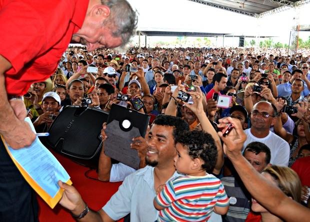 Lula no Acre (Foto: Rayssa Natani / G1)