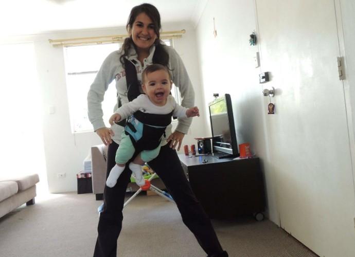 Na Austrália, Raquel se casou com um brasileiro e teve um filho (Foto: Raquel Conforte/ Arquivo Pessoal)