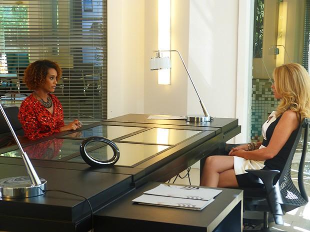 Verônica vai até a Marra Brasil para falar com Pamela (Foto: Geração Brasil/ TV Globo)