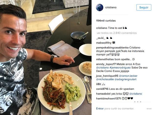 BLOG: Craque em versão light: Cristiano Ronaldo encara pratão saudável no almoço