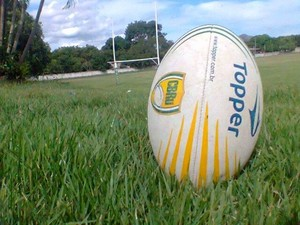 Bola de rugby (Foto: Assessoria Cuiabá Rugby/Michel Leplus)