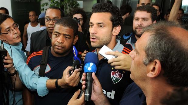 Fred desembarque Fluminense (Foto: Alexandre Durão / Globoesporte.com)
