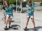 Paolla Oliveira mostra lado radical e anda de skate: 'Relaxa a mente'