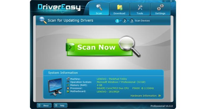 Driver Easy é simples de usar e tem versão portátil (Foto: Reprodução)