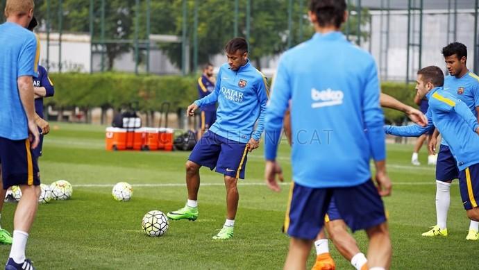 Neymar no treinamento do Barça (Foto: MIGUEL RUIZ /FCB)