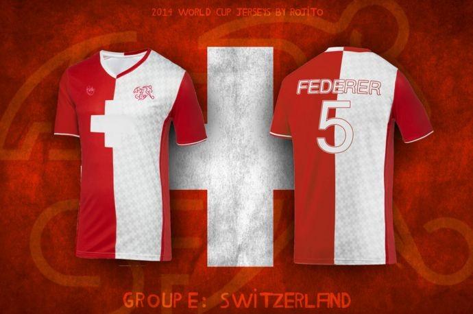Blog da Copa - design camisa da Suiça