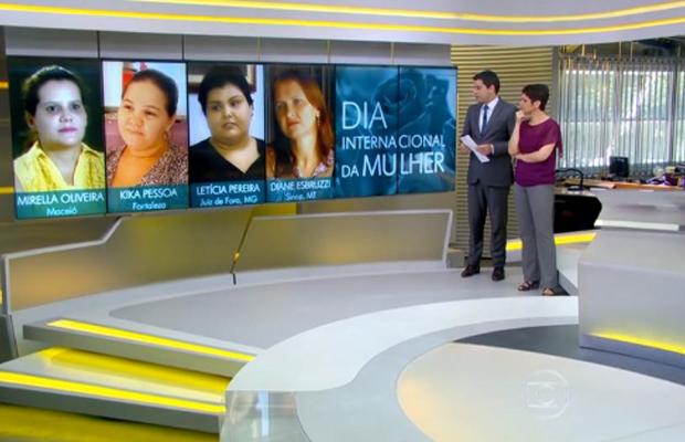 Depoimentos foram exibidos dia 8 de março, no Dia Internacional de Mulher (Foto: Divulgação   TV Integração )