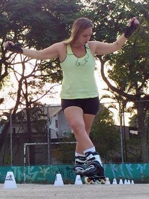 """""""O patins foi a melhor coisa que me aconteceu"""", avalia Luana (Foto: Arquivo pessoal)"""