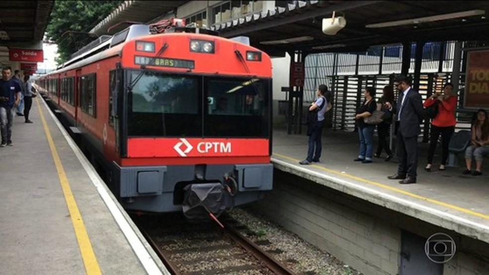 Trem da CPTM  (Foto: Reprodução/TV Globo)