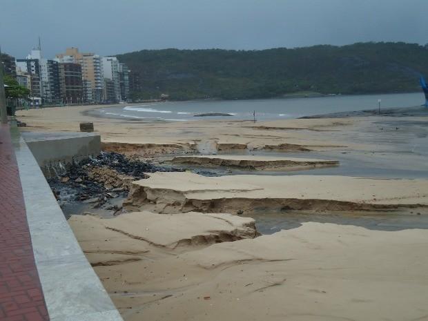 areia guarapari (Foto: Augusto César Oss/VC no G1ES)