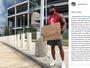 Atleta usa cartaz para buscar emprego e consegue vaga no New York Jets