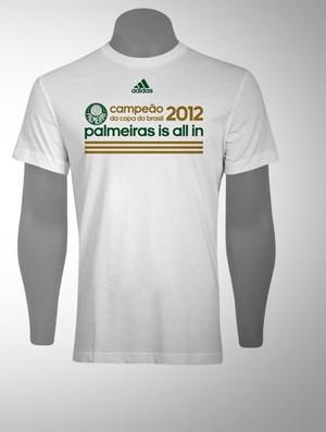 Camisa comemorativa do título da Copa do Brasil - Palmeiras (Foto   reprodução) 32b663288d8e2