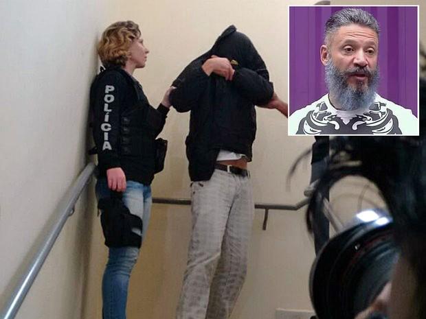 Ex-BBB Laercio é preso em Curitiba (Foto: Adriana Justi/G1; Divulgação)