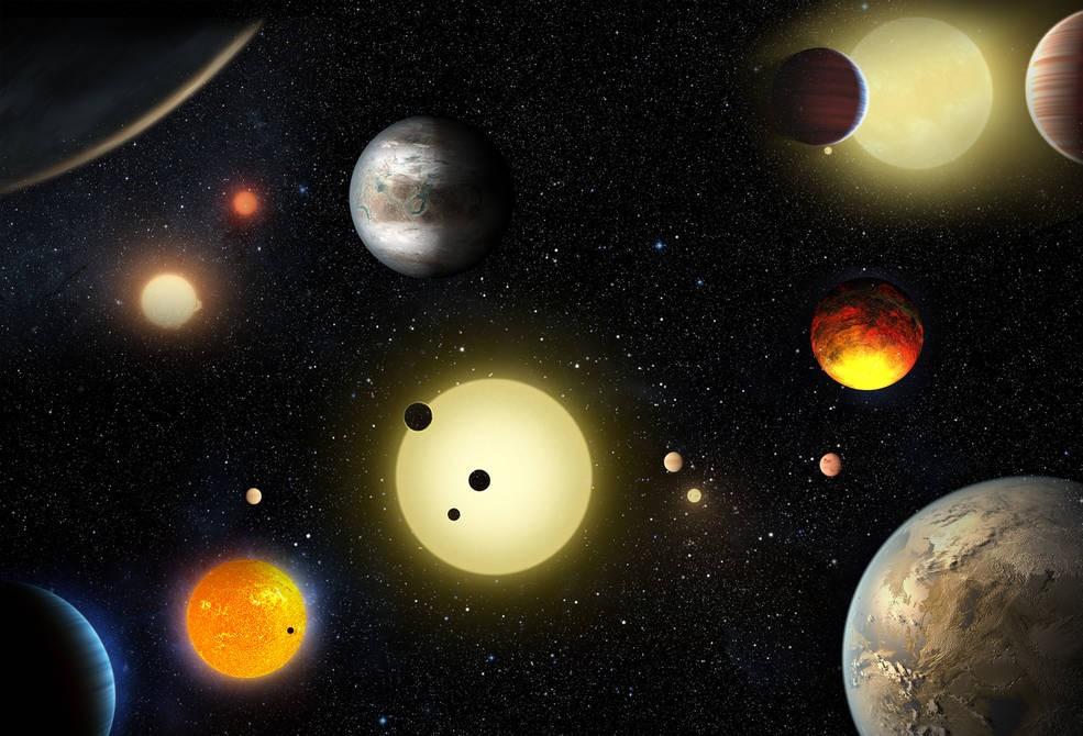 Planetas descobertos pelo Kepler (Foto: NASA)