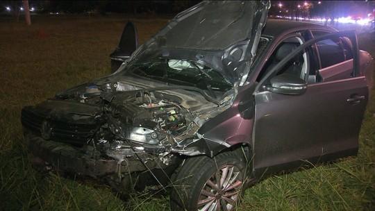 2 pessoas morrem em acidente provocado por racha em Brasília