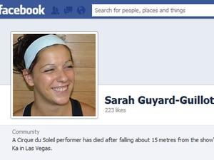Sarah Guyard-Guillot em foto de comunidade do Facebook (Foto: Reprodução/Facebook)