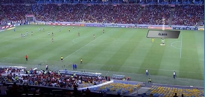 Élber câimbras Sport Flamengo  (Foto: Reprodução SporTV)