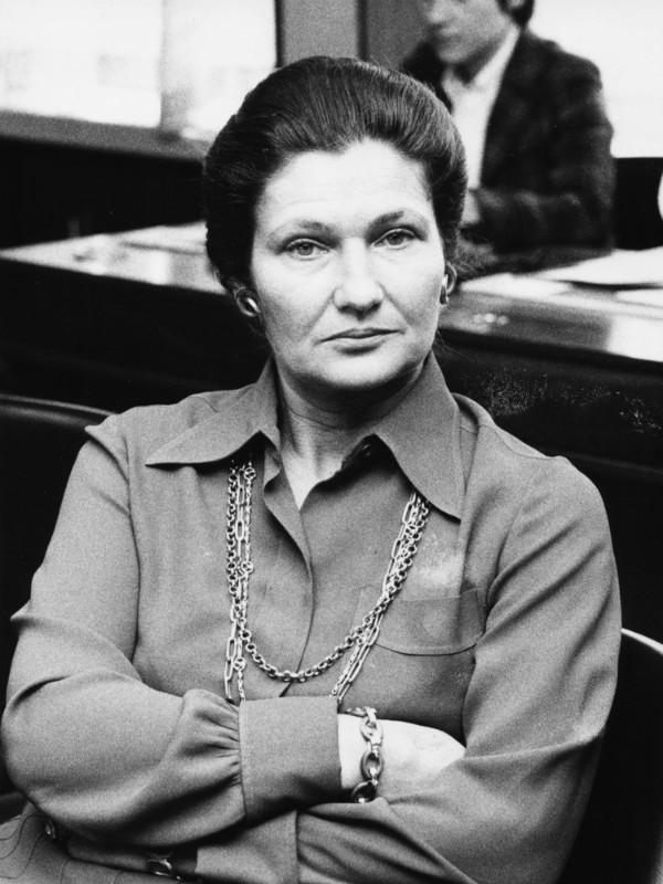 Simone Veil em 1974 (Foto: Getty Images)