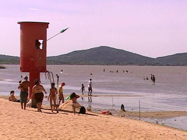 Praia do Lami Zona Sul de Porto Alegre (Foto: Reprodução/RBS TV)
