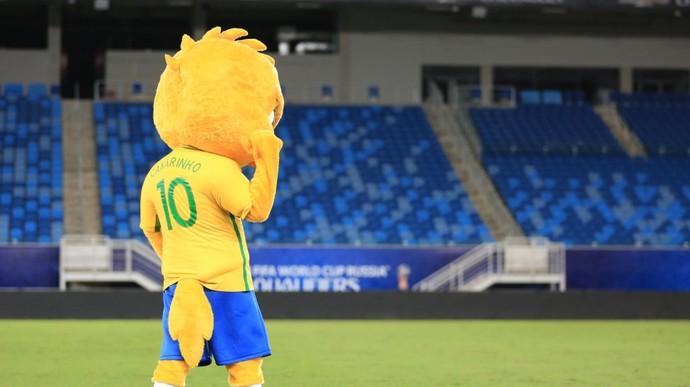 Canarinho, mascote da seleção brasileira com a camisa 10 (Foto: Lucas Figueiredo/CBF)