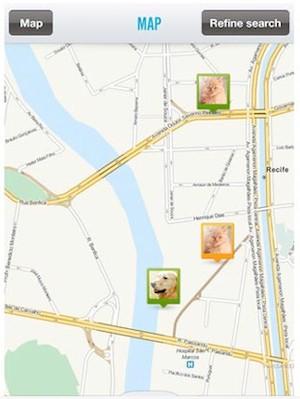 Aplicativo auxiliar a divulgar localização de animais perdidos. (Foto: Reprodução)