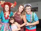 Andréia Sorvetão leva a filha a show no Rio