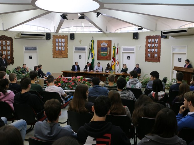 Audiência pública debateu o caso na Câmara Municipal de Encantado (RS) (Foto: Flavia Moreira Lima/Divulgação)
