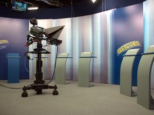 Estúdio do EPTV Central em São Carlos (Foto: Fabio Rodrigues/G1)