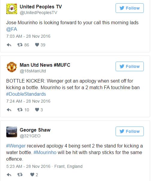 BLOG: Torcida do United lembra Wenger em 2009 e exige desculpas a Mourinho