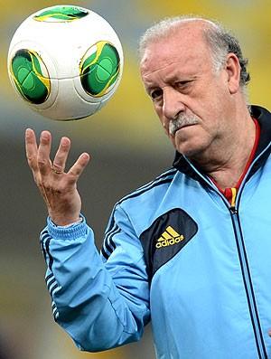 Vicente del Bosque treino Espanha (Foto: AFP)